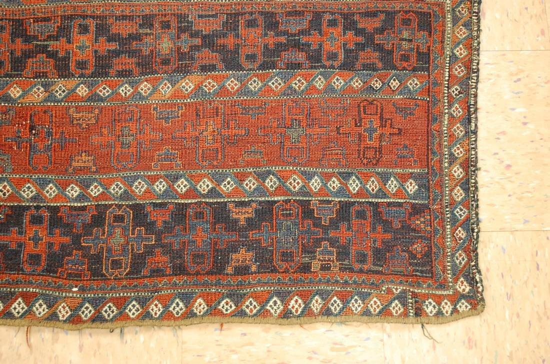 Antique Kurdish Horse Cover Verneh Rug 3.9x4.4 - 2