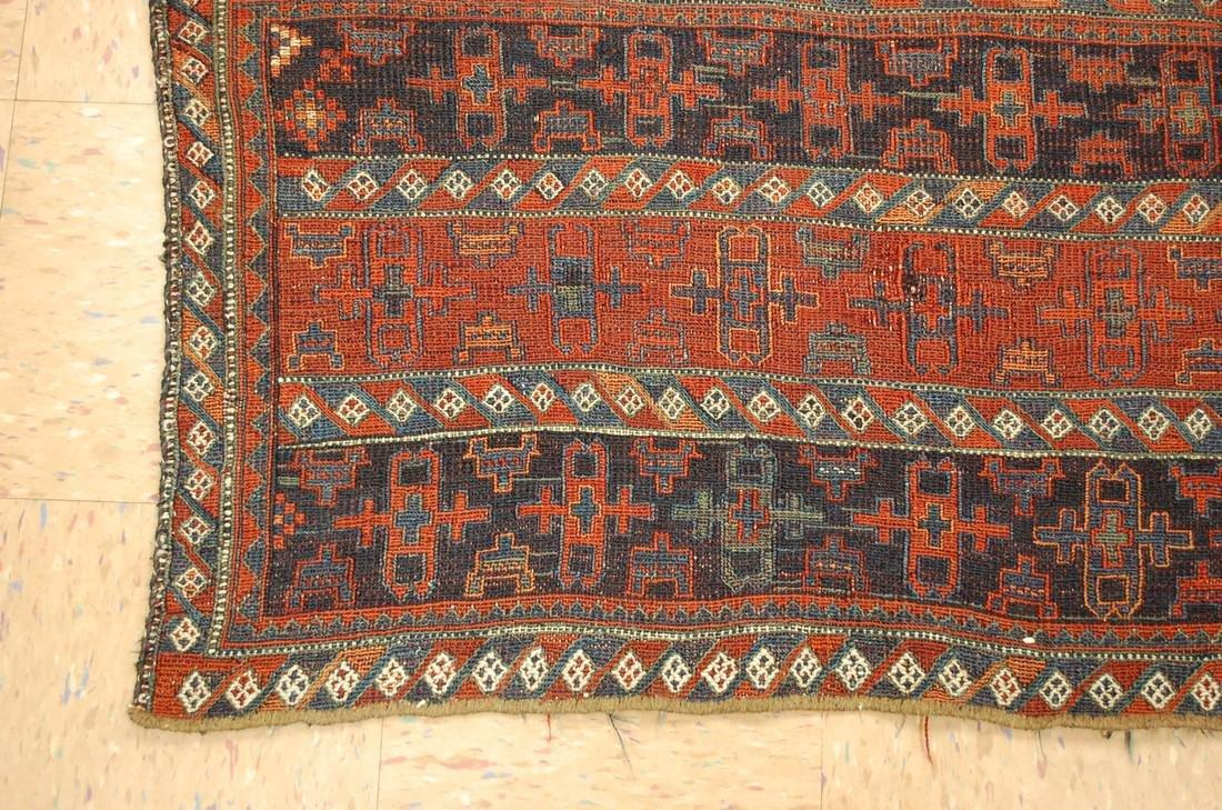 Antique Kurdish Horse Cover Verneh Rug 3.9x4.4 - 3