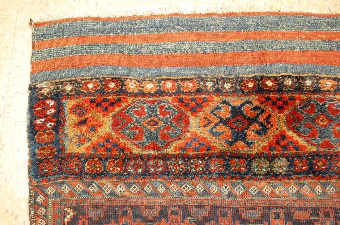 Antique Kurdish Horse Cover Verneh Rug 3.9x4.4 - 4