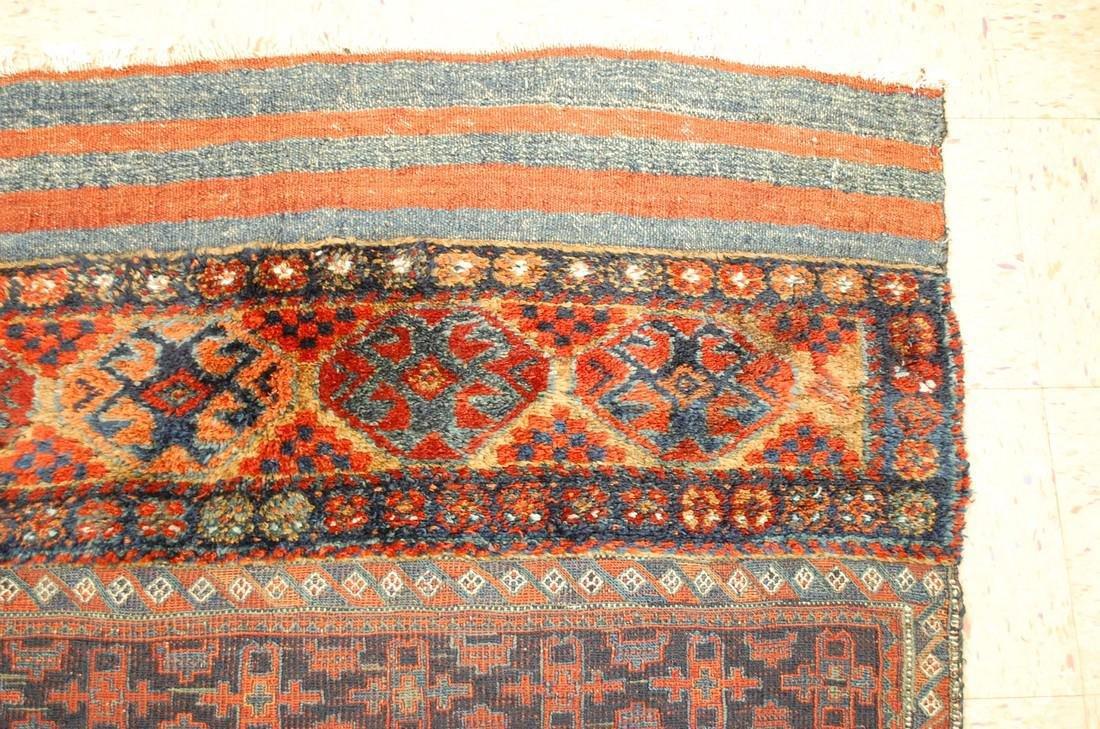 Antique Kurdish Horse Cover Verneh Rug 3.9x4.4 - 5