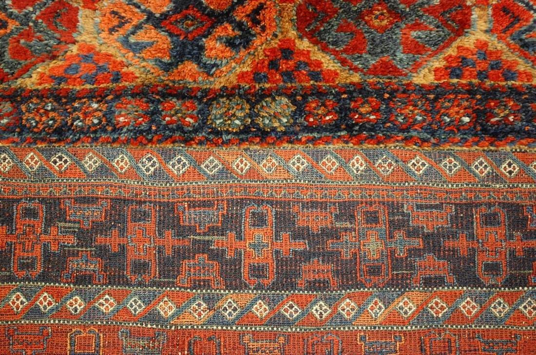 Antique Kurdish Horse Cover Verneh Rug 3.9x4.4 - 6