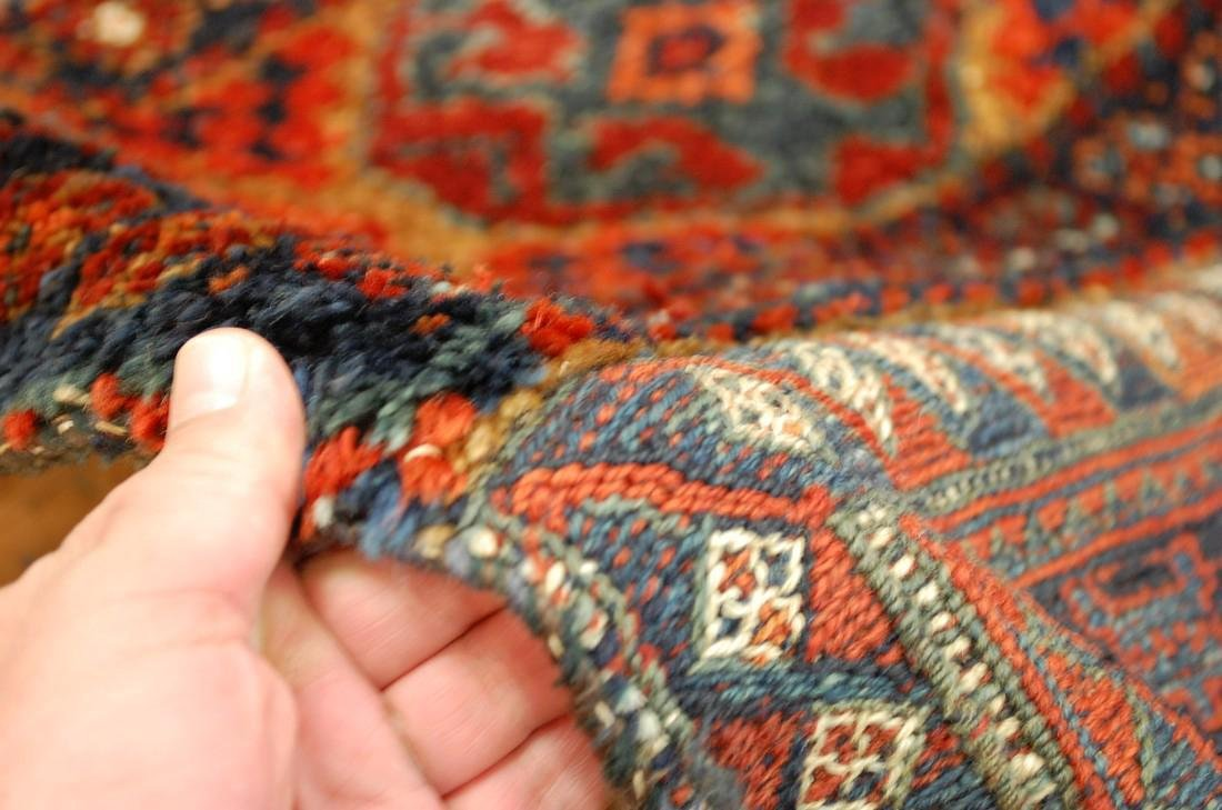 Antique Kurdish Horse Cover Verneh Rug 3.9x4.4 - 7