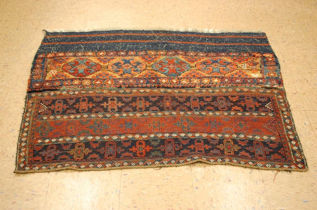Antique Kurdish Horse Cover Verneh Rug 3.8x4.7