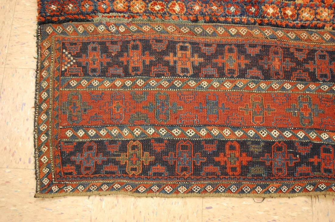 Antique Kurdish Horse Cover Verneh Rug 3.8x4.7 - 3