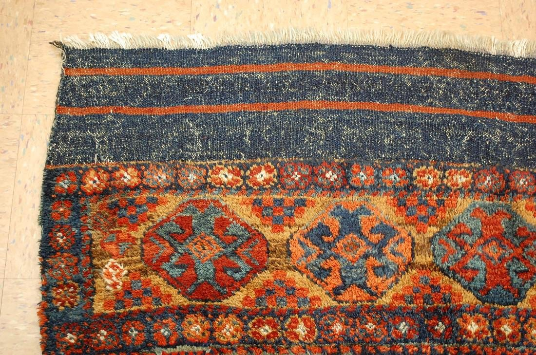 Antique Kurdish Horse Cover Verneh Rug 3.8x4.7 - 4