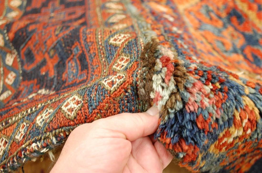 Antique Kurdish Horse Cover Verneh Rug 3.8x4.7 - 6
