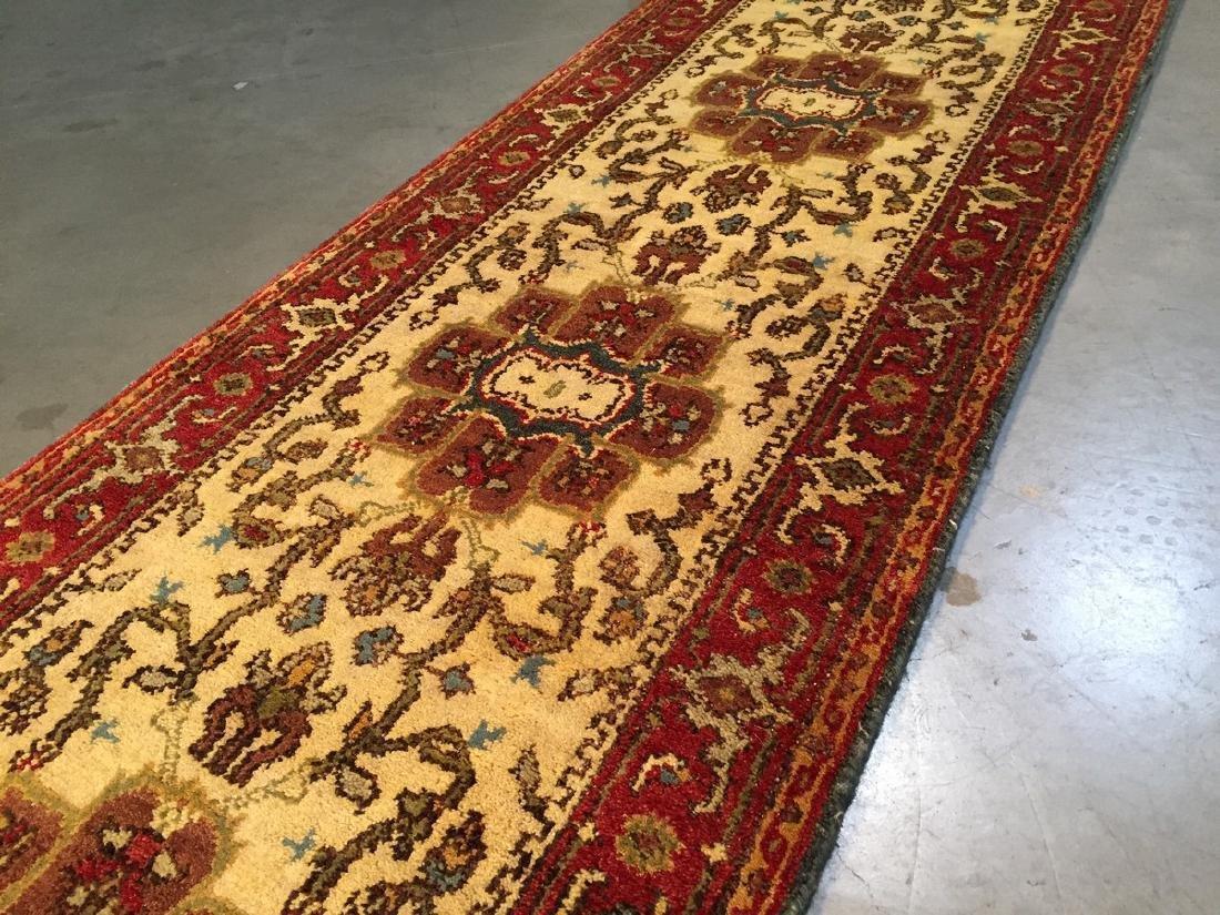 Hand Knotted Wool Heriz Design Long Runner Rug 2.6x15.7 - 2