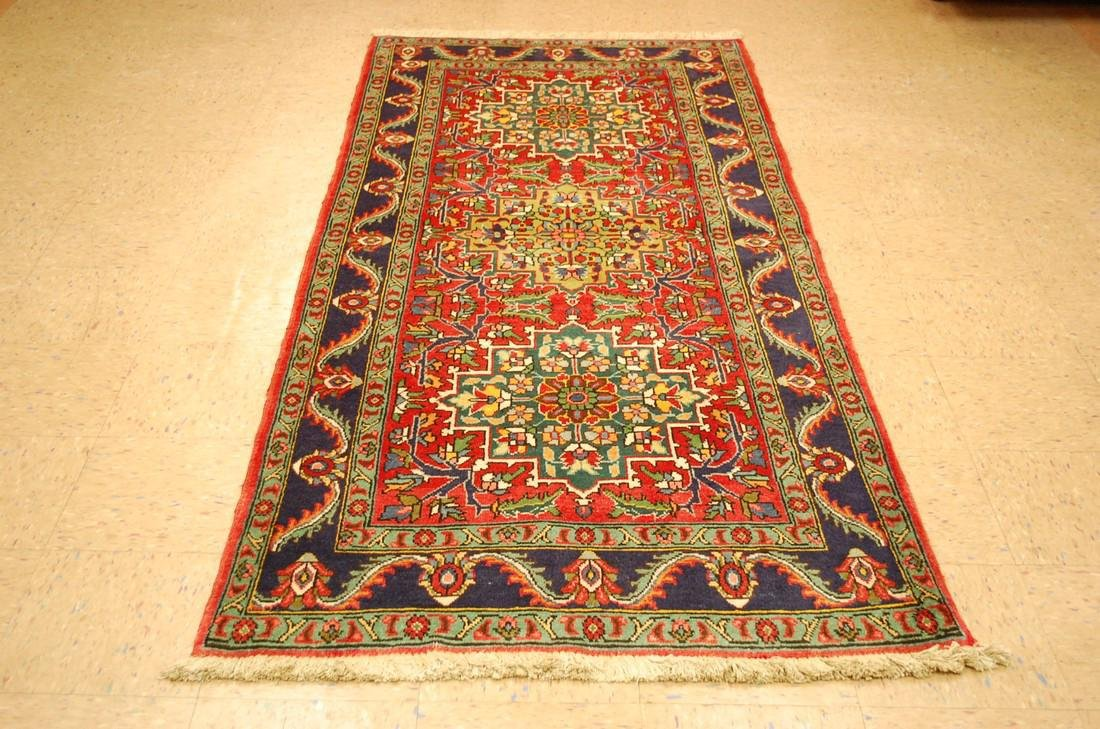 Detailed Persian Tabriz Rug 3.8x8.6