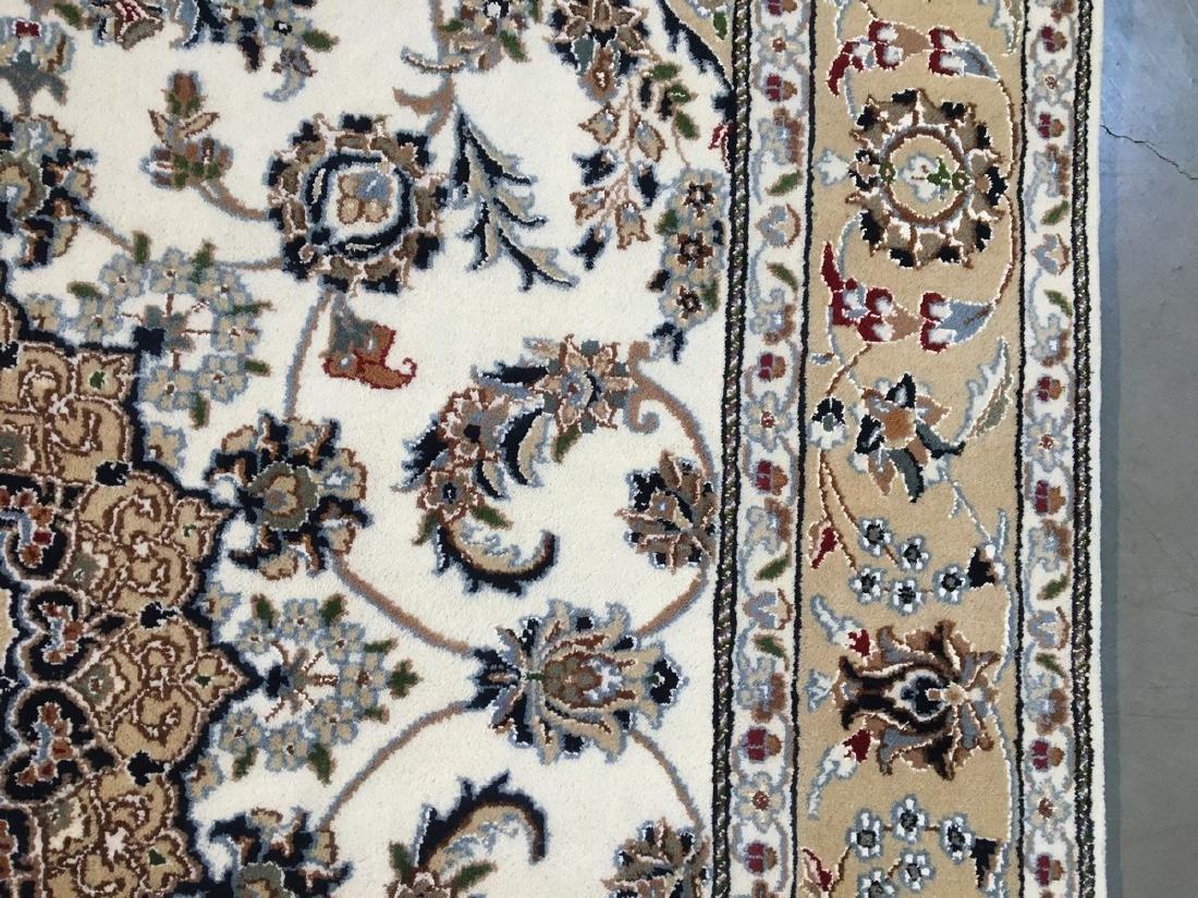 Silk & Wool Nain Design Rug 4.1x6.1 - 8