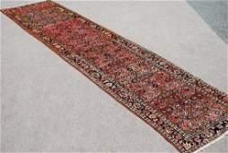 Semi Antique Persian Malayer Runner Rug 3.2x13.8