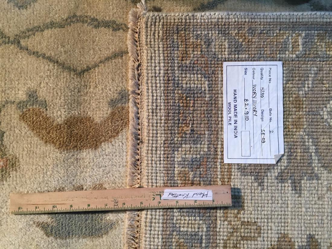 Vintage Oushak Design Hand Knotted Rug 8.2x9.10 - 10