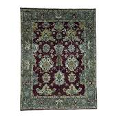 Indo Oushak Pure Wool Hand Knotted Rug 7.3x9.7