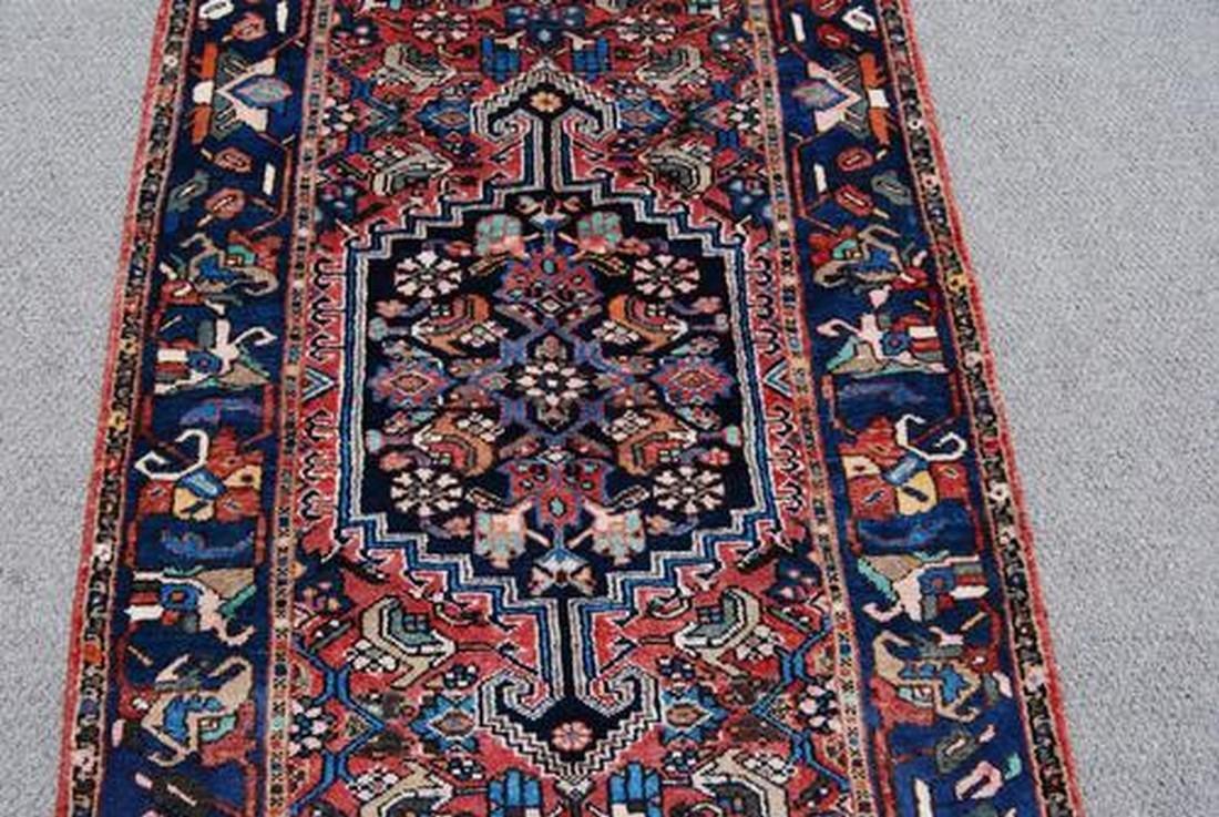 Handmade Persian Zanjan Runner Rug 3.7x16.5 - 2