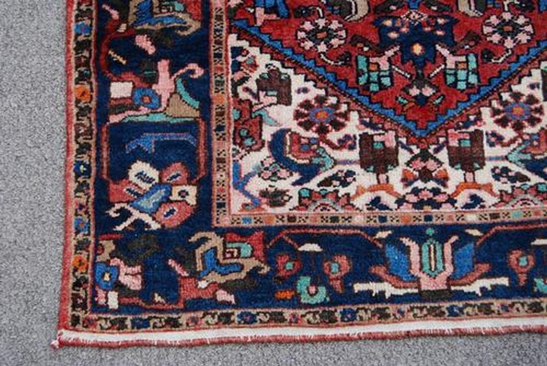 Handmade Persian Zanjan Runner Rug 3.7x16.5 - 3