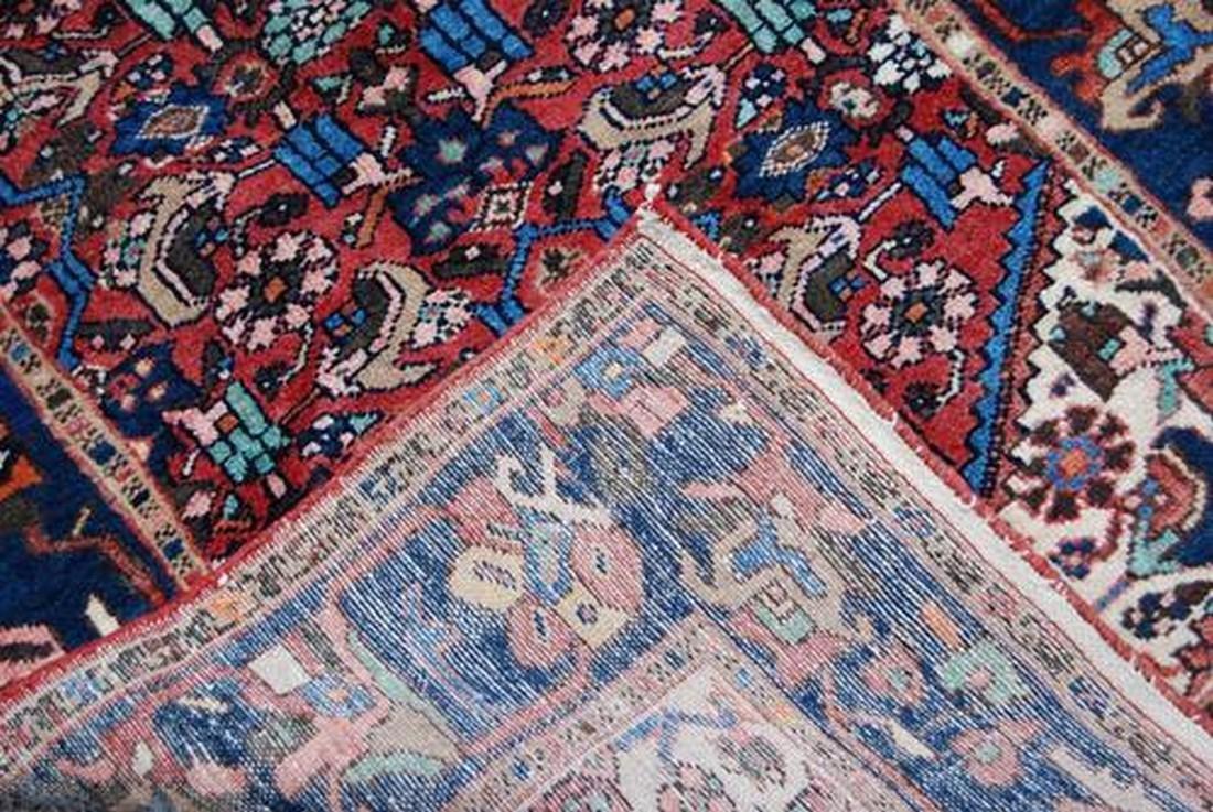 Handmade Persian Zanjan Runner Rug 3.7x16.5 - 4