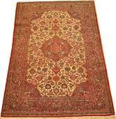 Vintage Persian Kashan Rug 4.3.x6.9