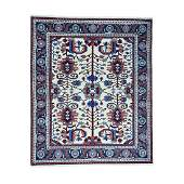 Thick Heriz Hand Knotted Pure Wool Rug 84x101