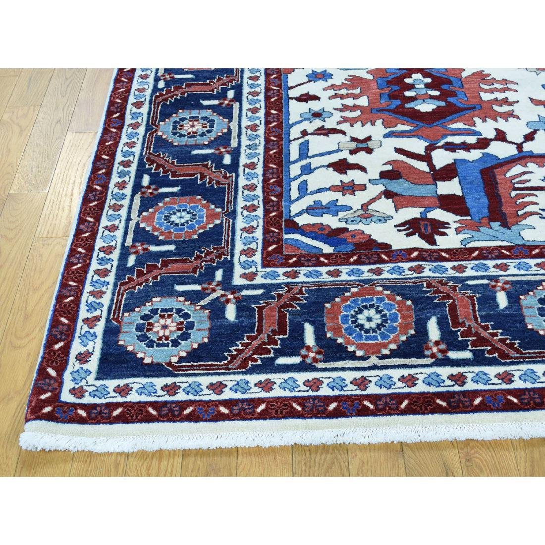 Thick Heriz Hand Knotted Pure Wool Rug 8.4x10.1 - 5