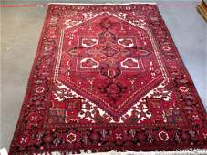 Authentic Persian Hand Knotted Wool Heriz Rug 9.6x6.9