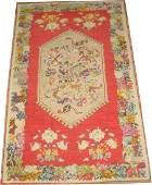 Antique Turkish Ghiordes Oushak Ushak Rug 3.9x6.2