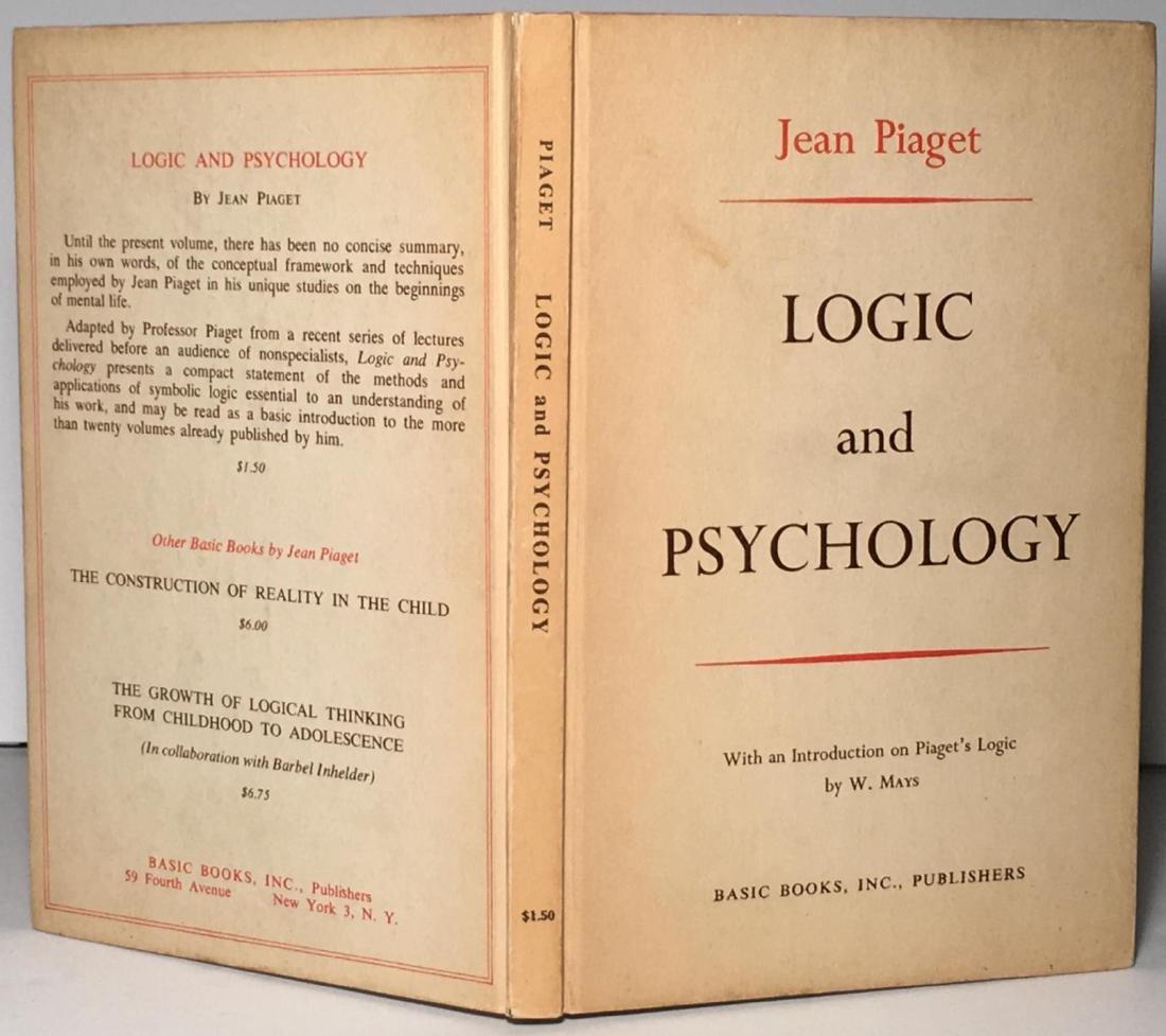 Logic and Psychology Jean Piaget
