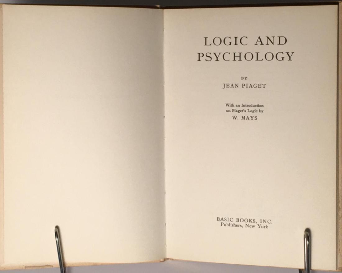 Logic and Psychology Jean Piaget - 2