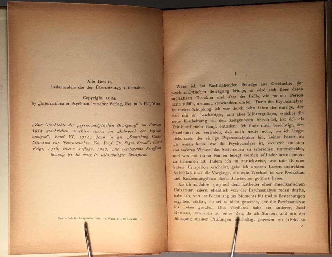 Zur Geschichte der psychoanalytischen Sigmund Freud - 4