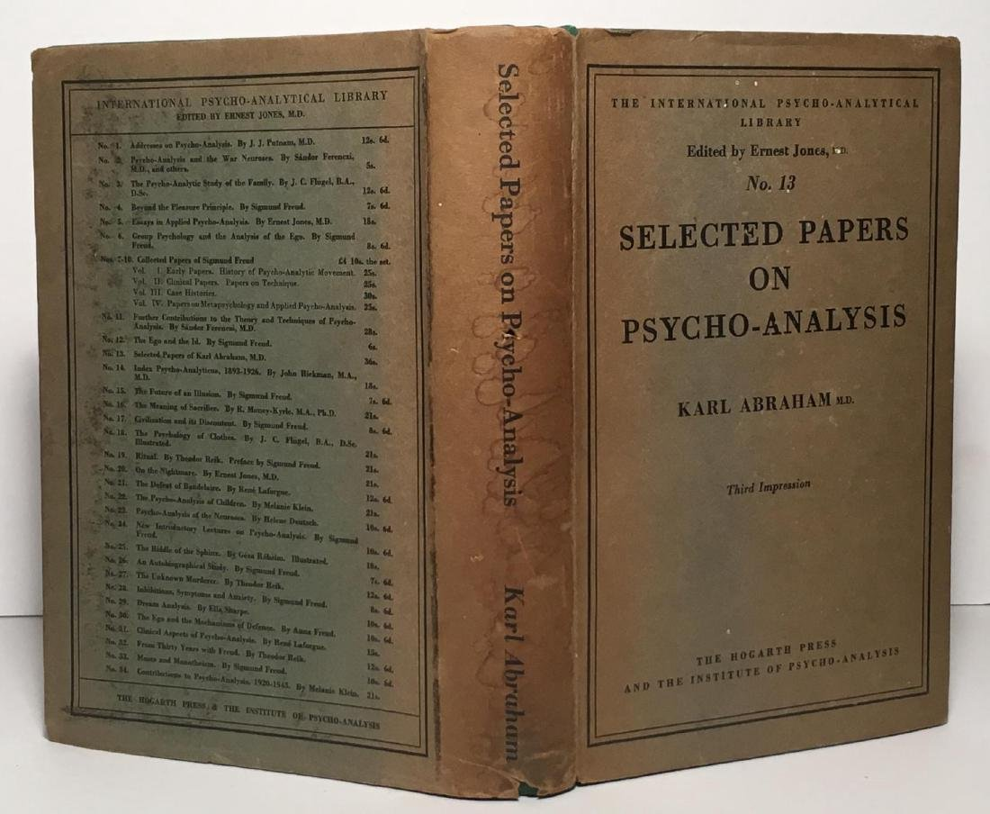 Selected Papers on Psycho-Analysis Karl Abraham