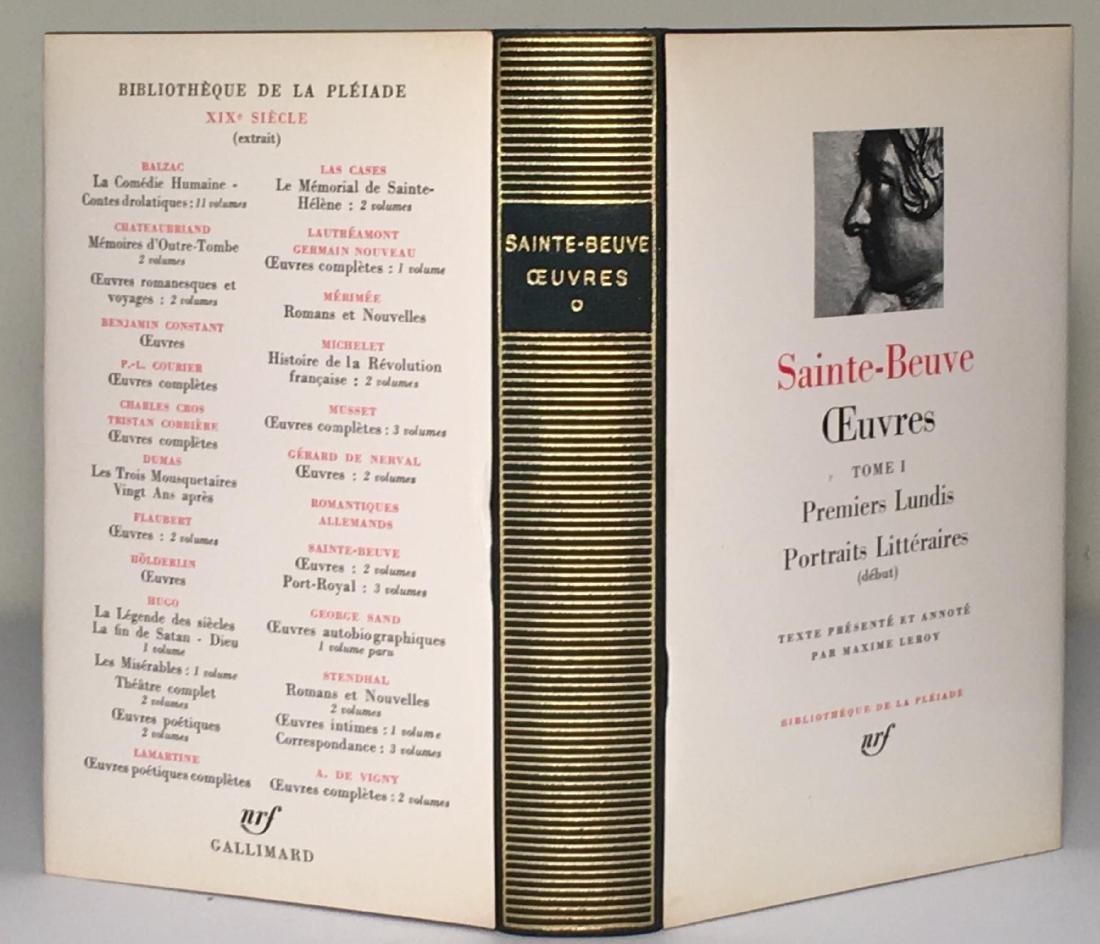 Oeuvres Saint Beuve