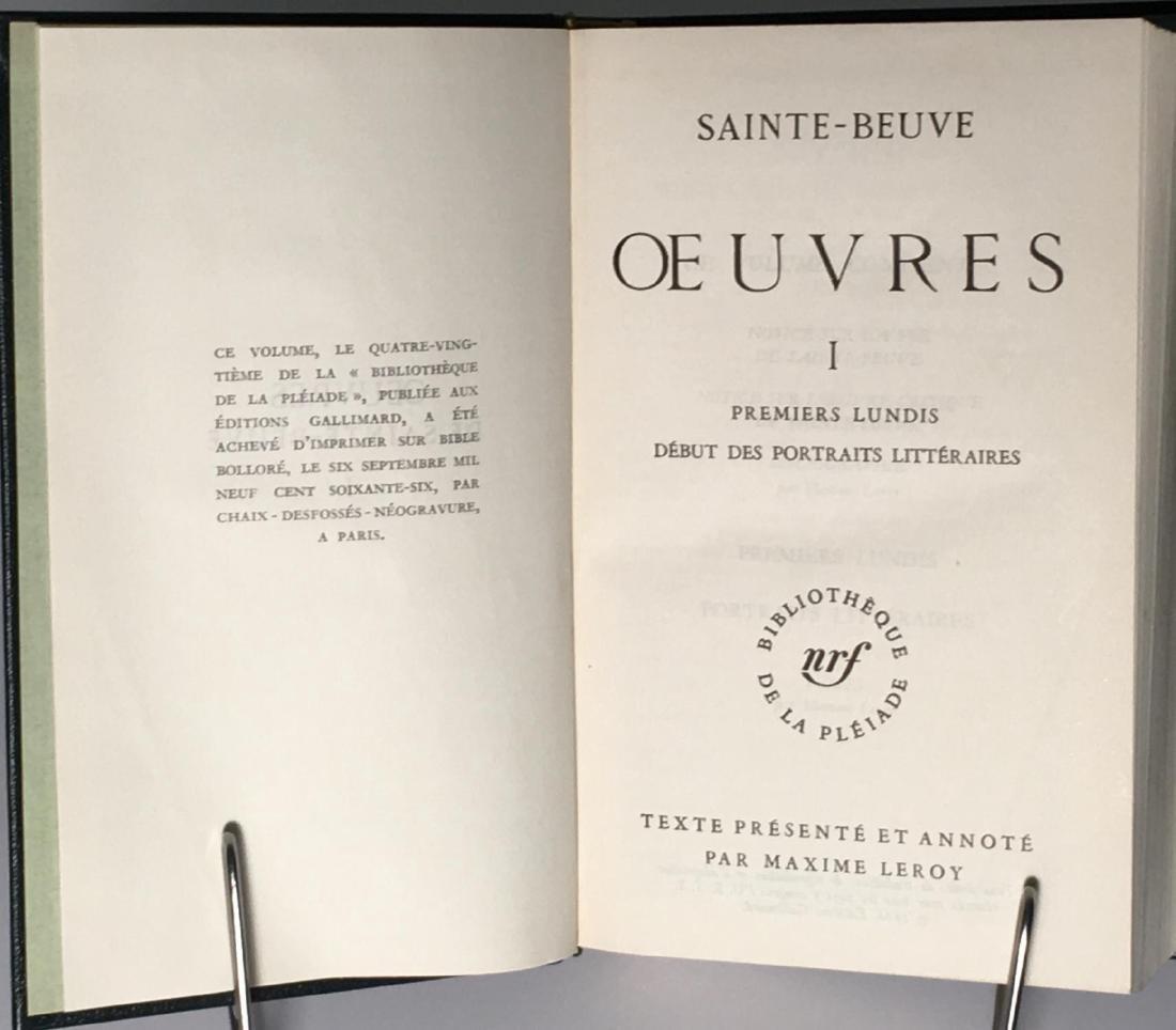 Oeuvres Saint Beuve - 5