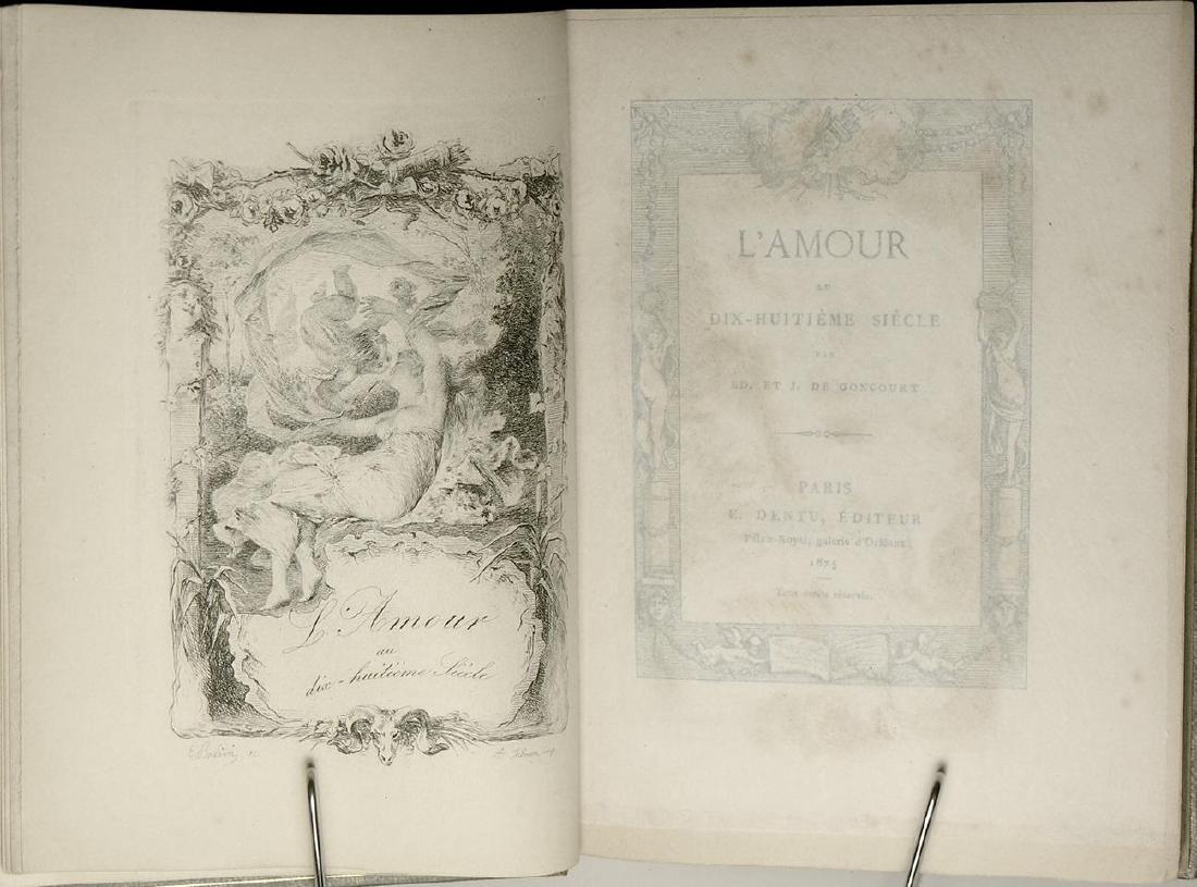L'Amour au Dix-Huitième Siècle J. de Goncourt - 2