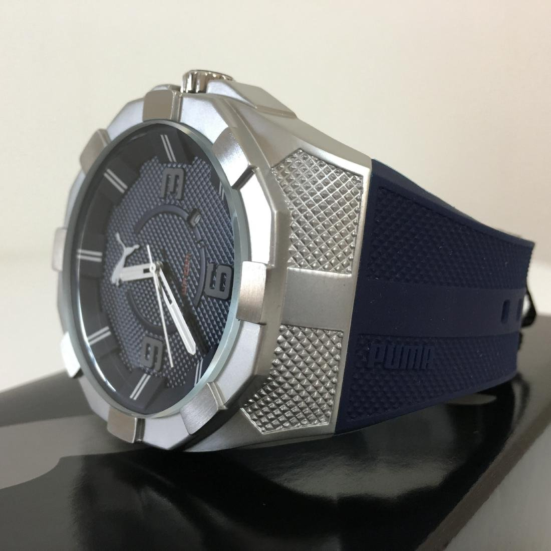 PUMA Iconic Blue Silicone Display Watch With Box - 2