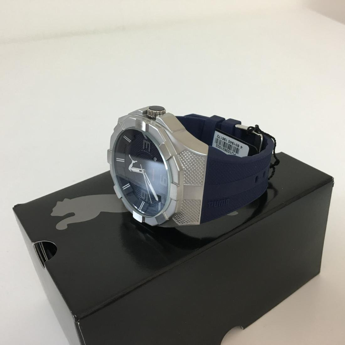 PUMA Iconic Blue Silicone Display Watch With Box - 3