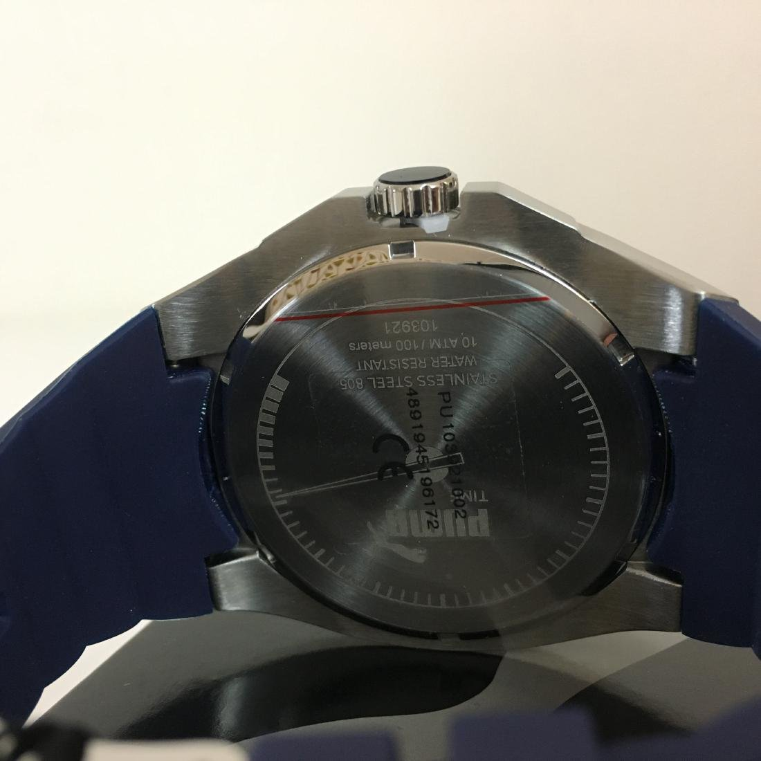 PUMA Iconic Blue Silicone Display Watch With Box - 7