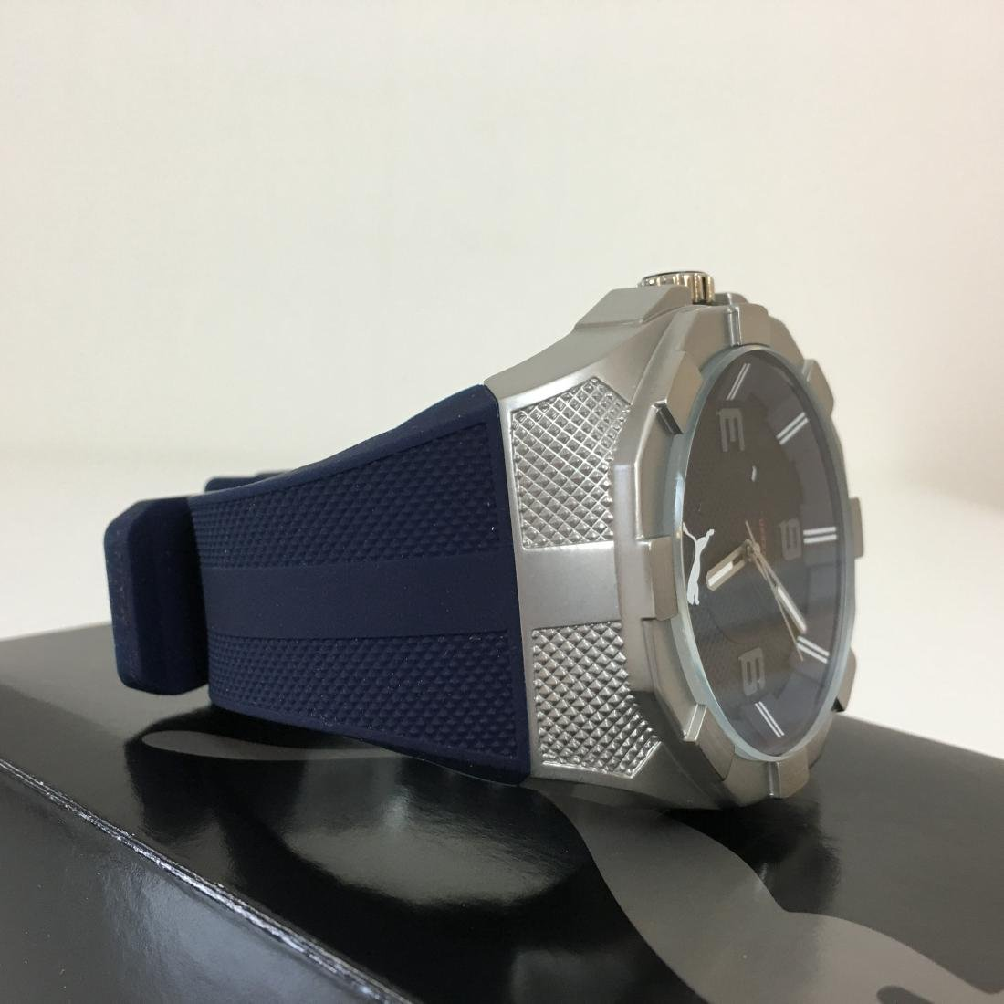 PUMA Iconic Blue Silicone Display Watch With Box - 8