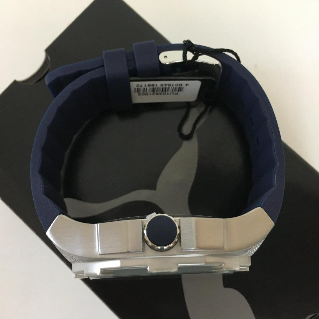 PUMA Iconic Blue Silicone Display Watch With Box - 9