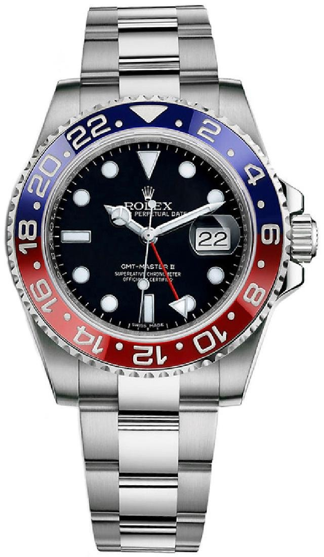 Rolex GMT-Master II Custom Ceramic Blue/Red Watch
