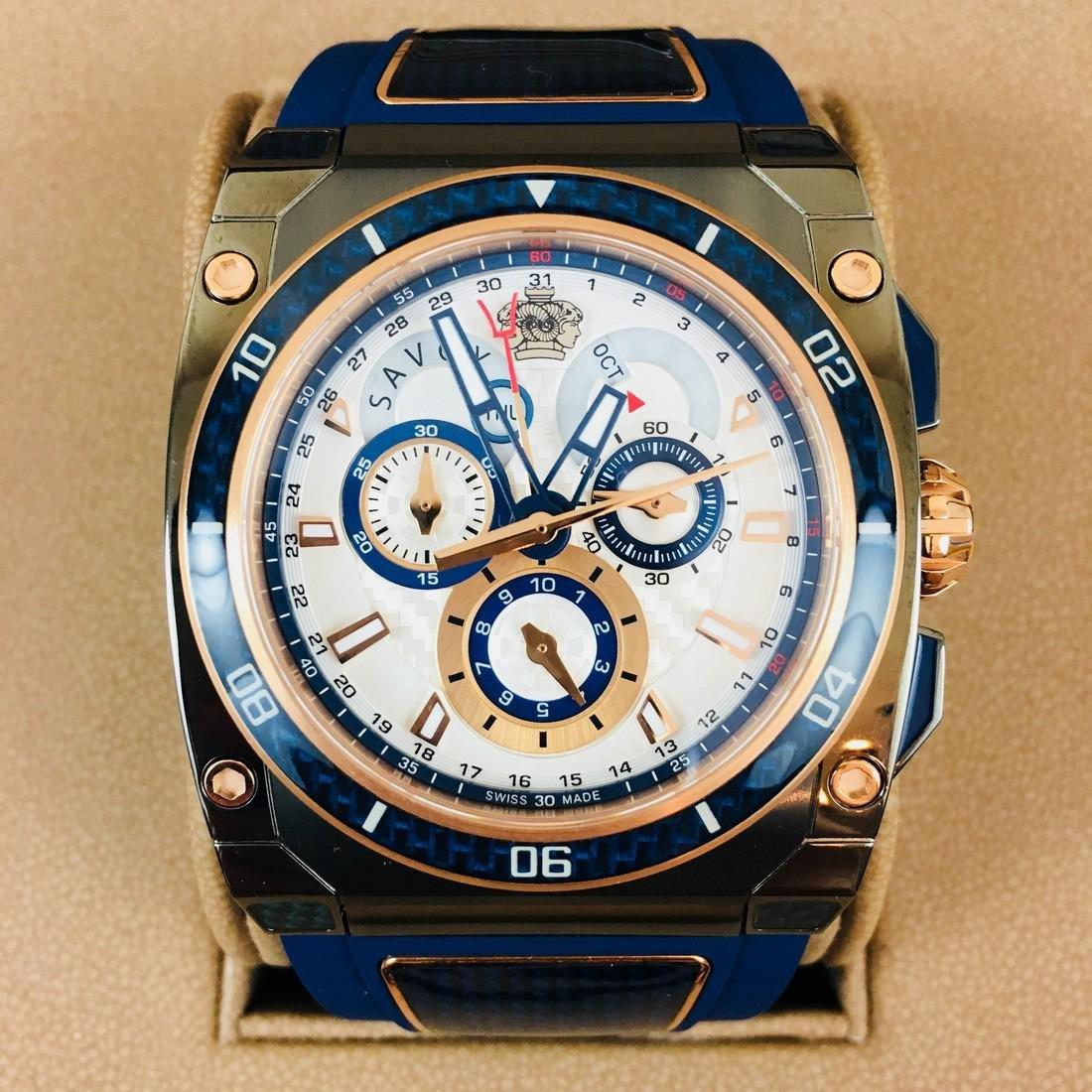 Savoy Titanium Carbon Swiss Made Luxury Watch