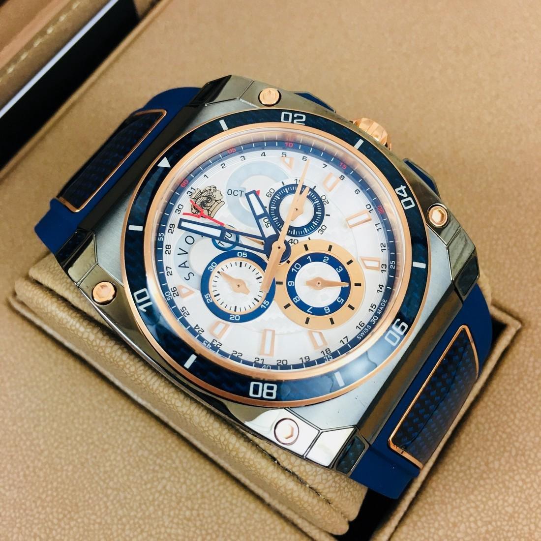 Savoy Titanium Carbon Swiss Made Luxury Watch - 3