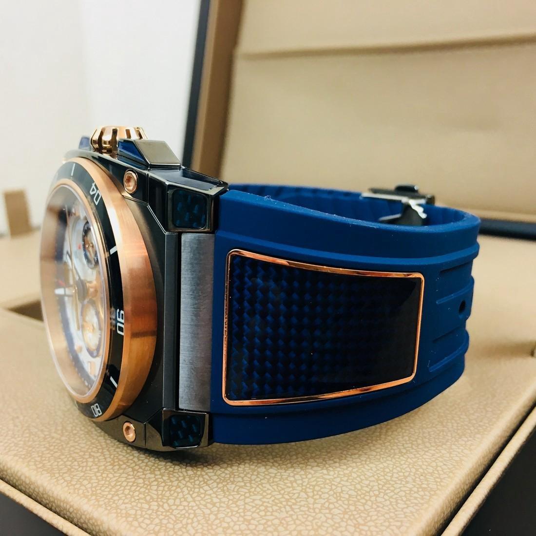 Savoy Titanium Carbon Swiss Made Luxury Watch - 4