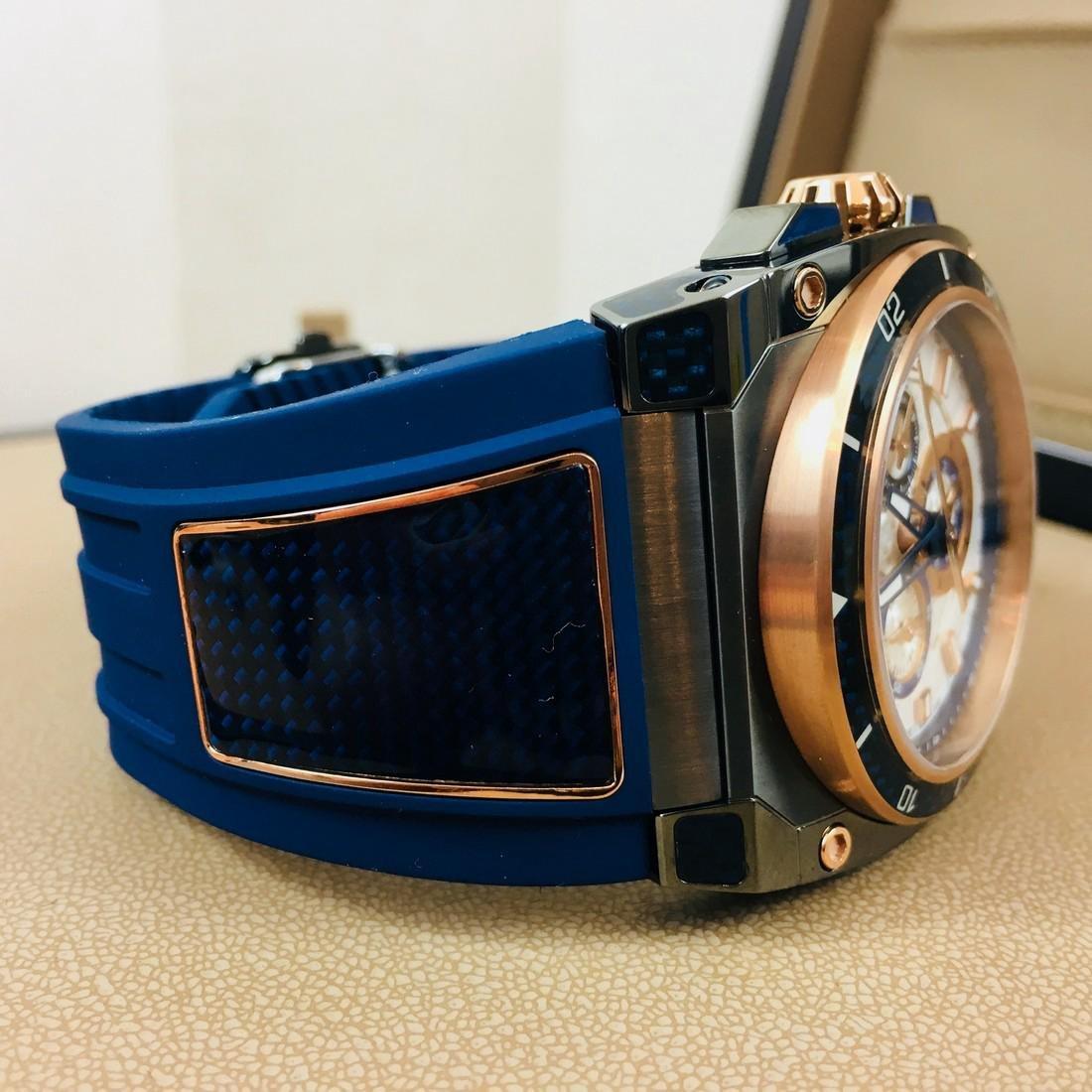 Savoy Titanium Carbon Swiss Made Luxury Watch - 7