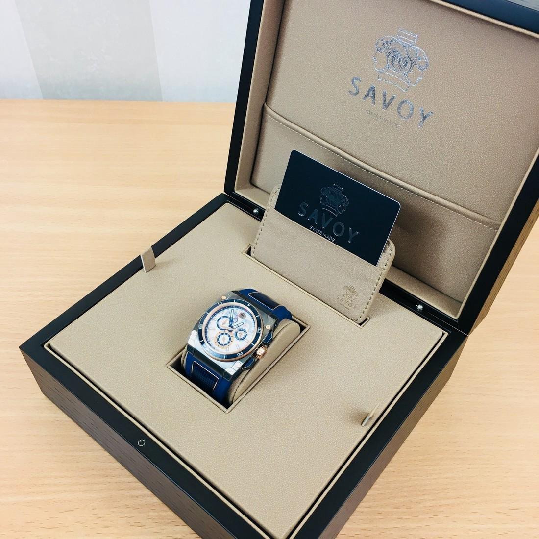Savoy Titanium Carbon Swiss Made Luxury Watch - 9