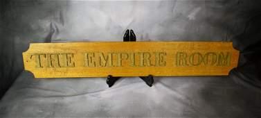 Antique Empire Room Trade Sign