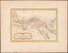 Bellin: Antique Map of Isthmus of Panama, 1754