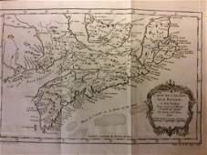 Bellin: Antique Map of Canada Arcadia Nova Scotia, 1740
