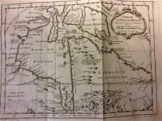 Bellin: Antique Map of Canada's Hudson Bay & Labrador
