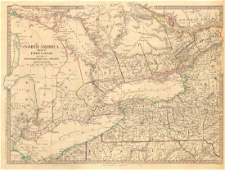 SDUK: Antique Map of Upper Canada & Great Lakes, 1846