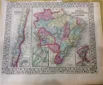 Mitchell: Map of Brazil Chile Uruguay Paraguay Bolivia