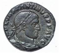 House of Constantine AE Follis rv Salus