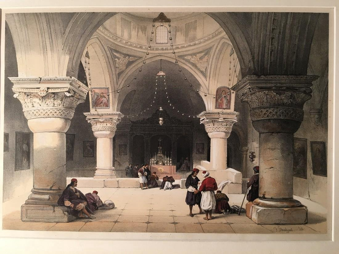 David Roberts Chapel of Saint Helene 1852 Lithograph